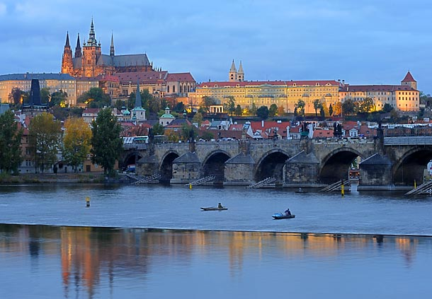 Prague Castle is one of many beautiful attractions