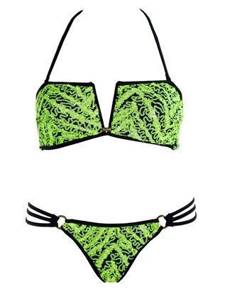 Mystic Shine Bandeau Bikini by Beach Bunny