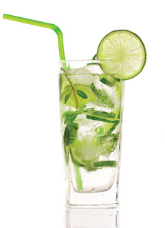 Vodka, lime and soda is a good option for drinking evenings