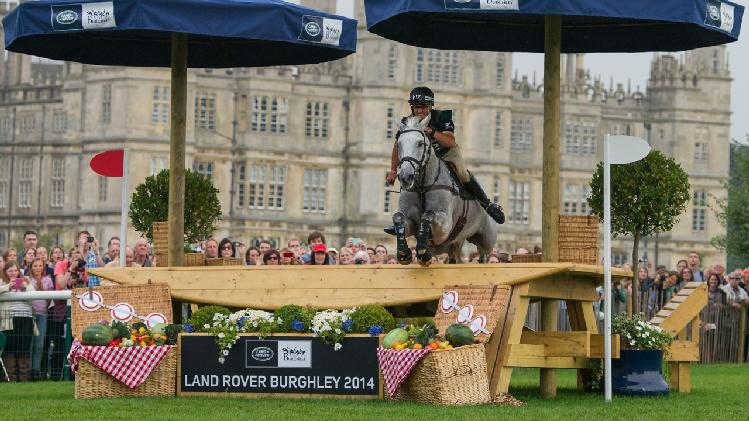 Andrew Nicholson competing at Burghley Horse Trials