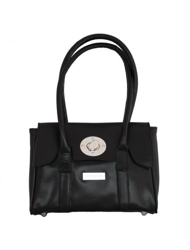 BLACK MINI LEATHER SATCHEL HANDBAG