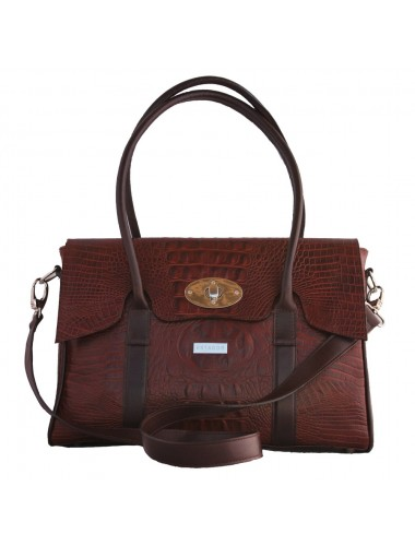 THE CHOC CROC LARGE LEATHER SATCHEL HANDBAG