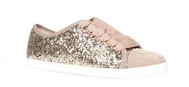 Glittering sneakers