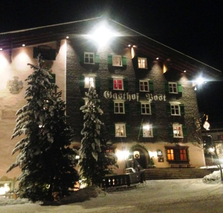 The hotel's facade