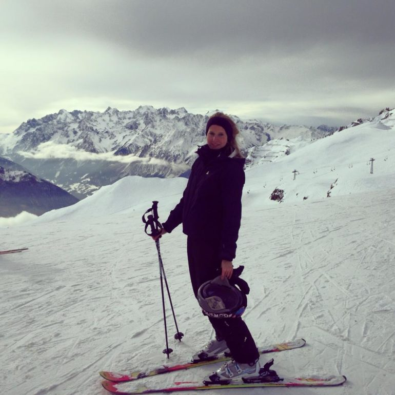 Our feature writer Baileigh Walsh exploring Verbier