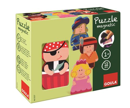 The Goula Interchangable Magnetic Wooden Character Puzzles is £14.00 and suitable for ages 1+