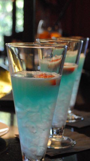 The fabulous blue cocktails