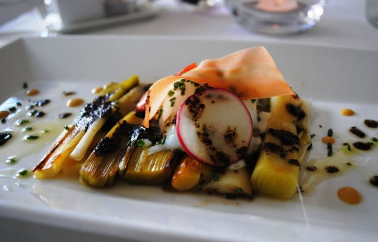 One of the dishes at La  Reserve