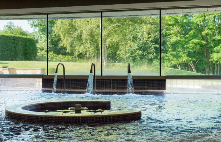 Whatley Manor has a brilliant hydro pool