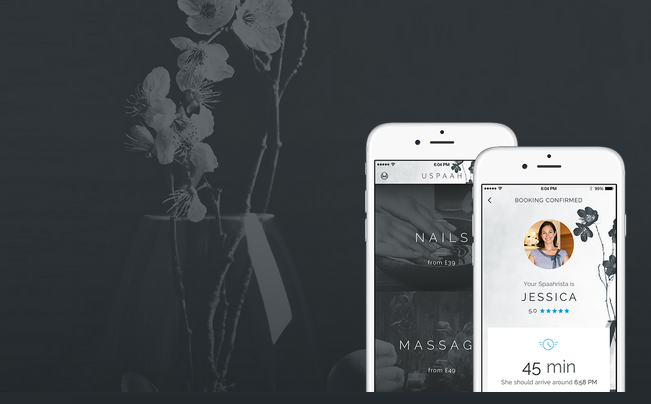 Uspaah is the new spa app for luxury at home treatments