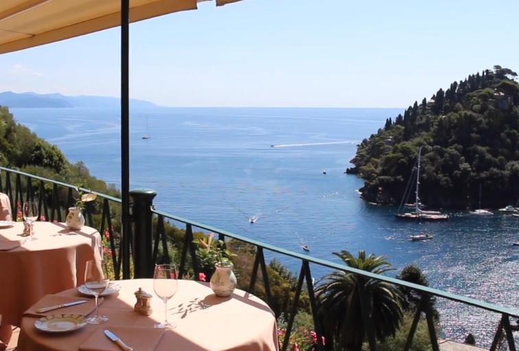 Dinner overlooking Portofino