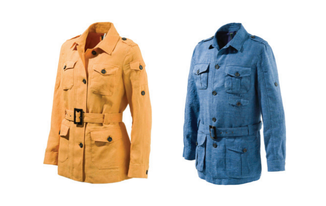 Left: Women's Serengeti Safari Jacket Right: Men's Serengeti Safari Jacket