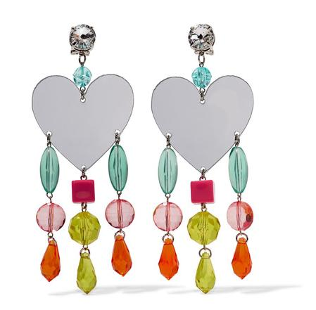 The statment Miu Miu earrings have the theme of love (£245)