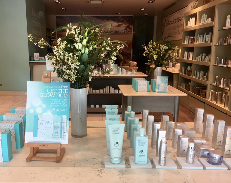 The store features a discreet spa as well as a range of excellent products
