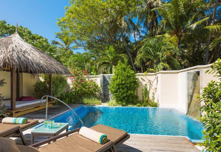 The pool villas at Kurumba Maldives