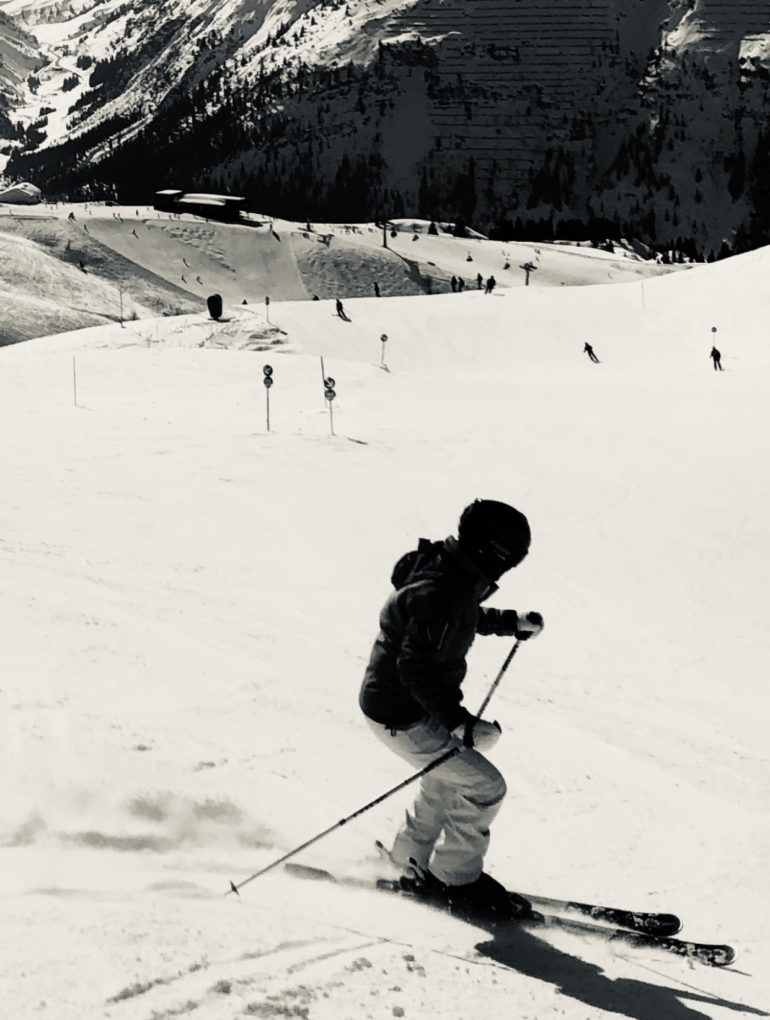 Patricia Bech pictured skiing